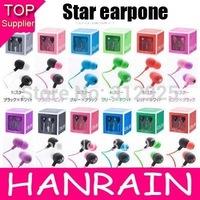 Hot Sale Earphone Star Portable Design Stereo Earphones Headphone For MP4 MP3 Phone Laptop 10pcs/lot
