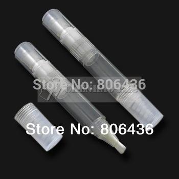 (DHL or Fedex)Free shipping-50pcs/lot 6ml PCTA click lip gloss pen,  nail polish pen, plastic bottle,cosmetic pen