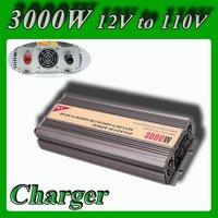 Meind Modified Sine Wave power inverter 3000w DC 12V to AC 100V 110V power converter battery charge function