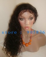 Wholesale price black wavy 100%human hair lace front wig