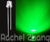 wholesale led blub 1000PCS 5mm ultra bright Green 800-1000mcd 3.2-3.4V Straw Hat Wide Angle,Top quality LED diodes led lamp
