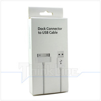 High Quality Version 6 Pin USB Cable / Charge Cable for iPad 3 2,for iPhone 4 4S,for iPod w/ Retail Packing - 200 pcs
