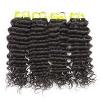 TD HAIR products Indian Virgin Hair Deep Wave Remy Curly hair bundles 4pcs lot no shedding unprocessed human hair