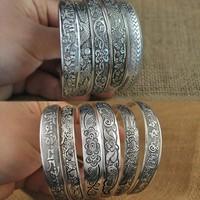 Tibetan Silver Bracelet Antique Silver Cuff Bracelet  10pcs/lot free shipping
