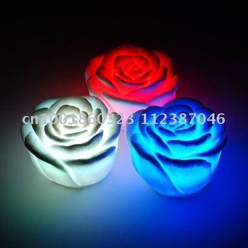 Free Shipping 36pcs/lot LED flashing rose light flash rose candle light led rose for Christmas