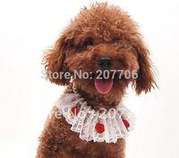 fashion dog jewelry,cat dog necklace,lace dog bandanan,mixed order acepted!