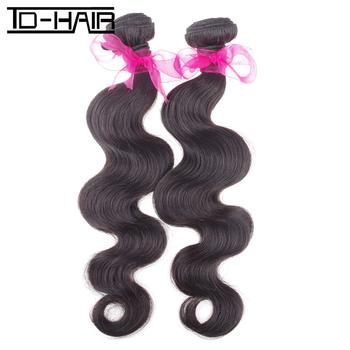 6A brazilian virgin hair body wave hair extensions virgin unprocessed natural color 1B# 2pcs/lot hot sale TD HAIR