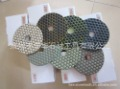 4&quot;dry polishing pads/diamond polishing pads/2.1mm thick/0.19kg each piece/High quality and great performance