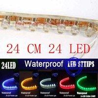 10pcs/lot 24cm 24 LED Waterproof flexible car led strip MC09p