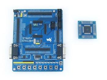 ATmega64 Board ATmega64A ATMEL AVR Development Board Kit + 2pcs ATmega64A-AU Cores = Waveshare STK64+ Premium Free Shipping