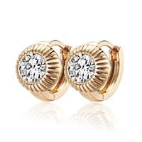 2014 18K Gold Plated Children Hoop Earrings Crystal Zircon SW Element Fashion Baby Girl Earring Free shipping 13E18K-86