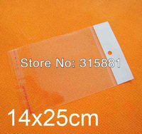 14x25cm hanging hole poly bags,Opp bags, 500pcs/lot free shipping