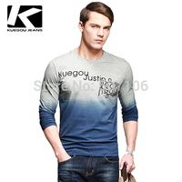 Free ship Hot selling Wholesale 100% COTTON NEW LONG SLEEVE T shirt MEN'S T SHIRTS
