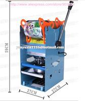 Guaranteed 100% New 220V Plastic Cup Sealing Machine standard cup dia:7cm,7.5cm,9.5cm, 400~500cups/hour