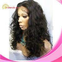 Free Shipping Stock Indian Human Hair Loose Curl Lace Front Wigs