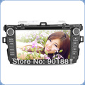 "Free shipping 2012 NEW Arrival 8"" Touchscreen 4GB SD IGO8 Win CE 6.0 HD 1080P DTV 3G WIFI special car dvd for corolla"