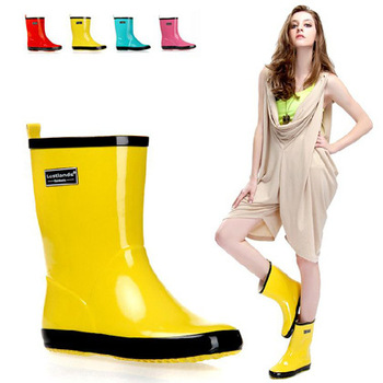 Free Shipping size 35-39 Rain Boots.Fashion Rain Shoes.pink/yellow/blue/red summer's essential galoshes rb1001