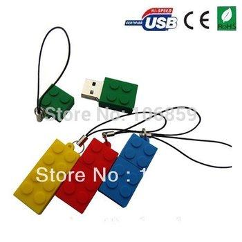 Wholesales 100% guaranttee!!! Free shipping /Free mini keychain/ Mix colour  /Mini brick usb flash drive2/4/8/16gb 50pcs/Lot