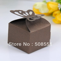 Free shipping wholesale and retail  paper wedding box(more colors)