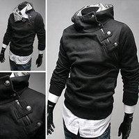 FreeShipping High collar coat New arrival top brand men's jacket,mens dust coat,leisure outwear men casual coat 4Color SZ:S-XXXL