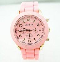 Wholesale GENEVA women wristwatches ladies fashion Silicone quartz watch Women watches w8