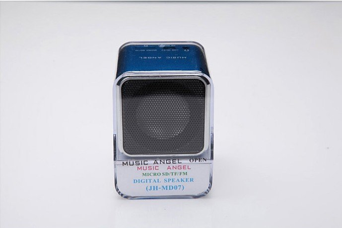Music Angel MD07 portable speaker,card speaker, mini speaker support FM Radio,wholesale 50pcs/lot(China (Mainland))