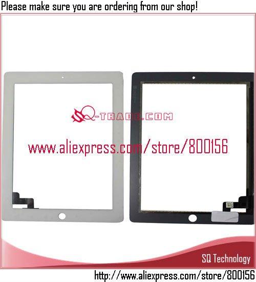 20pcs/lot touchscreen für ipad 2 touchscreen digitizer+adhesive aufkleber weiß Farbe frei versand per dhl ems
