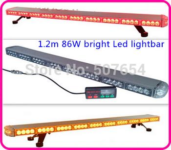 Free shipping! supper brightness DC12V, 100W,60cm Led Mini lightbar/emergency lightbar,mount by magnetics
