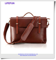 2014 new GENUINE LEATHER Men classic briefcase computer bag travel bag laptop business bag messenger messenger bag LF02006