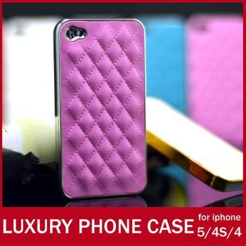 Luxury Designer pu Mesh Leather Case For Apple iPhone 5 4S 4 Fashion Cell Phone Cover Shell For iPhone5 4G FREE SHIPPING