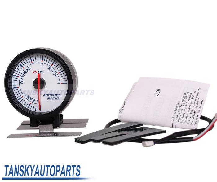 tansky-AP 60MM AIR/FUEL GAUGE ELECTTRO-LUMINESCENT/ Air Fuel meter / AIR FUEL GAUGE (white) TK-AP60007-W