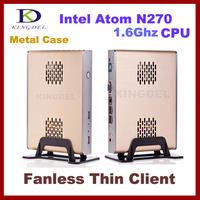 NEW Thin Client Computer, Mini PC with Intel Atom N270 1.60Ghz, 1GB RAM, 8GB SSD, 32 Bit, 720P HD
