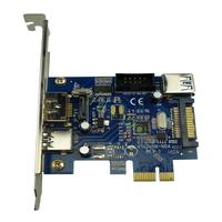 USB3.0+Power over eSATA PCI-express Card PCIe SATA3.0 eSATAp combo port low profile bracket--Free Shipping