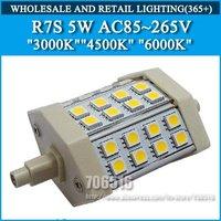 LED Flood Lights Light source R7S 5W 5050 SMD 3000K 4500K 6000K AC85-265V Free Shipping/DHL
