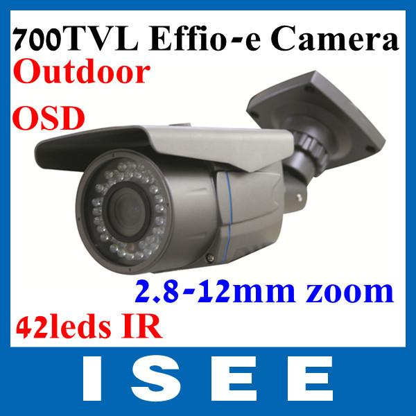 Big sale 700TVL Option 40m IR Distance Water-proof /Weatherproof CCTV Camera with 2.8-10mm Manual Zoom Lens Free Shipping(China (Mainland))