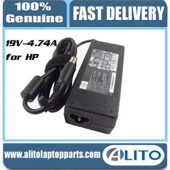Free Shipping ! 100% Original laptop adapter/ notebook adapter DC19V4.74A 90W PIN for HP PPP012H-S 519330-002