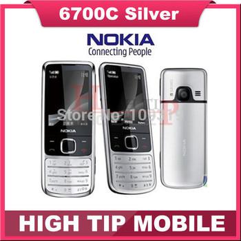 unlocked original Nokia 6700c 6700 classic chrome GSM phone russian keyboard support Refurbished  free shipping