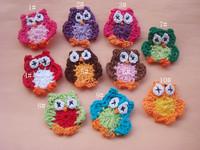 Hand crochet cotton flower x 50pcs shipping free
