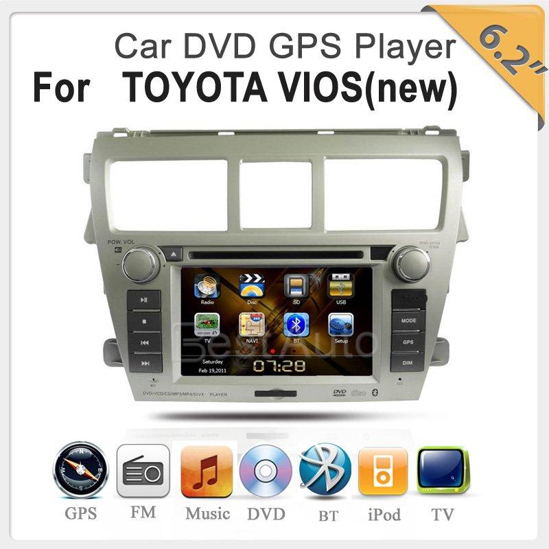 Автомобильный DVD плеер OEM 6,2 DVD GPS IPOD Bluetooth USB SD TOYOTA VIOS CE/FCC/ROHS + 4G + автомобильный dvd плеер zhoon android 4 2 2 dvd gps xtrail nissan x trail