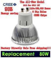 Factory Directly Sale 4 pcs/lot XE CREE E27 / E14 / GU10 9W 3X3W 50W /12W 4X3W 80W dimmable Warm Cool LED Light Bulb Downlight