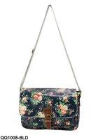 4 Colors Free 2014 Fashion Floral Women Handbags Buckle Detail Printing Messenger Bag Designer Shoulder Bags /QQ1008