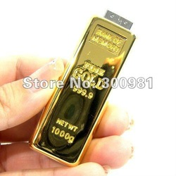 8th Year Golden Supplier gold bar usb Wholesale Genuine 2GB 4GB 8GB 16GB 32GB USB Memory Stick free shipping(China (Mainland))