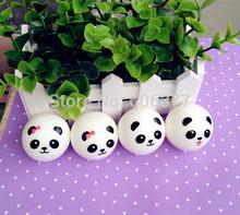 4 STYLES Kawaii Mini Panda Couple Squishy Cell Phone Charm/Free Shipping(China (Mainland))