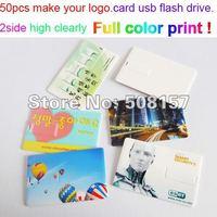Most Popular slim usb card  2GB/4GB/8GB/16GB/32GB flash drive full color printed promotion gift free shipping