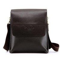Wholesale high quality hot selling men bag,leather men shoulder bag ,black,brown two color free gift men bag
