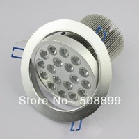 Freeshipping 18 LED High Power Ceiling Light Down Recessed Lamp White 85~265V 18W Cabinet +Dropshipping