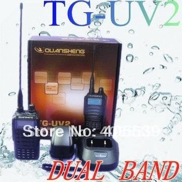 Quansheng TG-UV2 interphone Dual band dual display TG-UV UHF VHF LCD for bodygurde , security,hotel,ham TGUV2(China (Mainland))