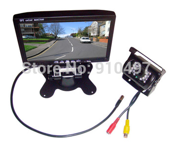 "18 IR Reversing Camera + 7"" TFT LCD Monitor Car Rear View Kit For Bus Long Truck free 10m video cable"