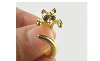 NEW wholesale Price! 2014 Hot Sale Adjustable Cat Ring Animal Fashion Ring__200pcs/lot----Free Shipping #01