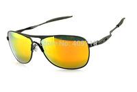 American Brand Sports Eyewear Men's/Women's Designer Crosshair 1.0 Metal Black Sunglass Fire Iridium Lens Black Logo Polarized